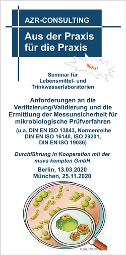 Anforderungen an die Verifizierung/Validierung und die Ermittlung der Messunsicherheit für mikrobiologische Prüfverfahren