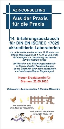 14. Erfahrungsaustausch für DIN EN ISO/IEC 17025 akkreditierte Laboratorien