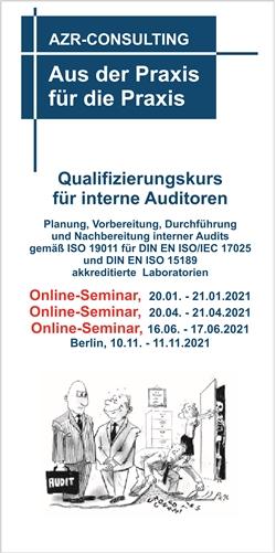 Qualifizierungskurs interne Auditoren