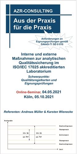 Interne und externe Maßnahmen zur analytischen Qualitätssicherung im ISO/IEC 17025 akkreditierten Laboratorium