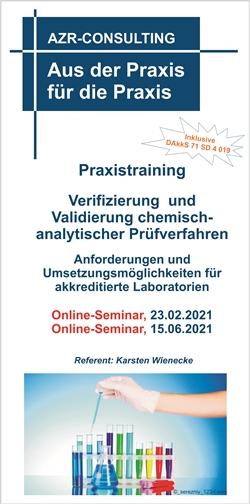 Praxistraining Verifizierung und Validierung chemisch-analytischer Prüfverfahren